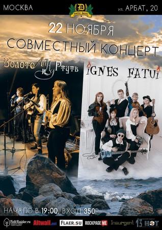 """Концерт """"IGNES FATUI"""" & """"Золото и Ртуть"""""""